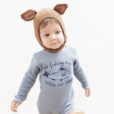 Too cute!  Thank you @brebilittleconceptstore for sharing this adorable image of or Bambi hat.  #Oeuf OeufNYC Bambi Knit hat for kids