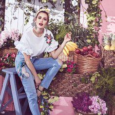 koton reklam fahriye evcen yaz sezonu nakışlı moda ile ilgili görsel sonucu
