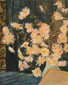 Erich Heckel (German, 1883-1970), Asters, 1944. Watercolour over pencil on wove paper,69.5 x 55.7cm.