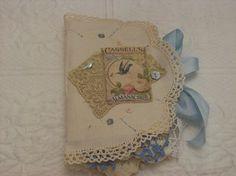 Fabric Rag Journal by StitchesbyJanO on Etsy, $125.00