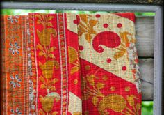Hand and Cloth | Kantha blankets repurposed from sari cloth | made by women of Bangladesh | great organization to support!