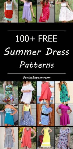 Inspiration and ideas for sewing women's summer dresses. #dresspatterns #summerdresspatterns #diyclothes