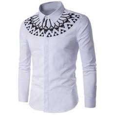 Chevron Striped Long Sleeve Shirt