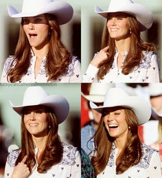 Kate Middleton is so lovely and simply stunning.  also who looks THIS good in a cowboy hat?!
