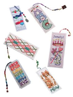 Pattern For Counted Cross Stitch Bookmarks
