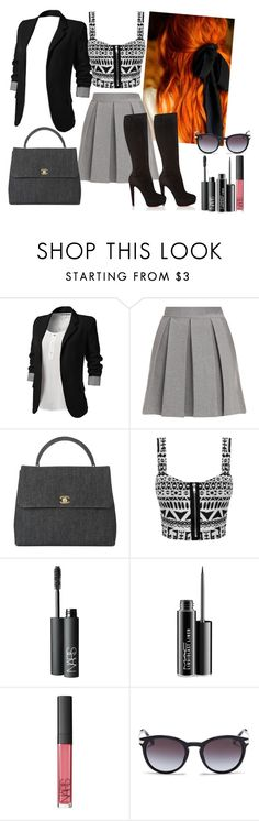 """Sem título #399"" by soufykl ❤ liked on Polyvore featuring Markus Lupfer, Chanel, NARS Cosmetics, MAC Cosmetics, Michael Kors and Christian Louboutin"
