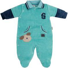 Macacão Plush Sport para Bebê Menino Verde - Sonho Mágico :: 764 Kids   Roupa bebê e infantil