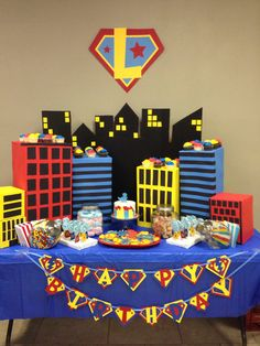 Superhero Birthday…get boxes from work for buildings? Superhero Birthday…get boxes from work for buildings? Superman Birthday Party, Birthday Party Design, Avengers Birthday, Boy Birthday Parties, 4th Birthday, Super Hero Birthday, 5th Birthday Ideas For Boys, Superhero First Birthday, Batman Party