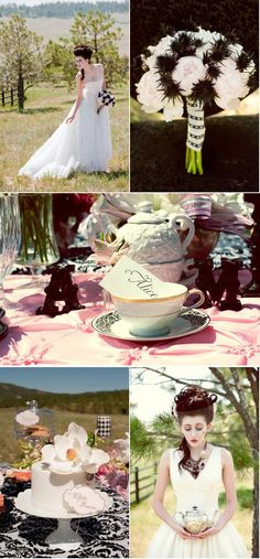 Mad Hatter Wedding Inspiration from La Vie le Gage + Hays Photography