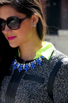 pops of neon to transition from winter to spring