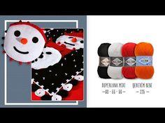 Kullanışlı, kitleme battaniye - Pratical, lockable blanket - YouTube Snowman, Playing Cards, Crochet Hats, Blanket, Knitting, Holiday Decor, Pattern, How To Make, Youtube