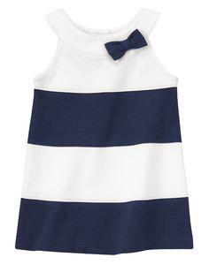 Striped Bow Ponte Dress at Gymboree