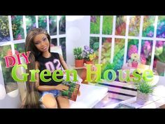 (1) DIY - How to Make: Doll Greenhouse - Handmade Dollhouse Crafts - YouTube