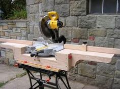 Well thought out chop saw table design