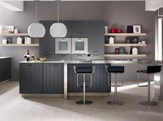 cuisine laquée grise - recherche google   meubles cuisnie