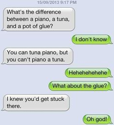The dad joke text. | The 24 Types Of Text All Dads Send