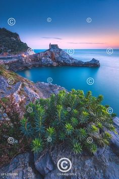The Gulf of Poets of Portovenere, a spring evening, just after sunset, the province of La Spezia, Liguria.