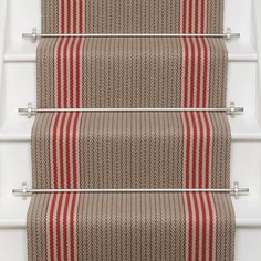Designers and Makers of unique stripe runners, rugs and fabrics in natural fibres. Simply Luxury for Modern Living New Carpet, Modern Carpet, Striped Carpet Stairs, Hallway Carpet, Carpet Shops, Porch Flooring, Painted Stairs, Carpet Styles, Beige Walls