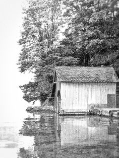 Old Boathouse Boathouse, Austria, Cabin, Abstract, House Styles, Artwork, Home Decor, Landscape Rake, Summary