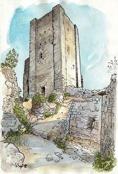 Détour au donjon by Cat Gout, via Flickr
