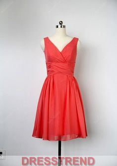 Bridesmaid Dress  Red Bridesmaid Dress / Short by DressTrend, $89.99