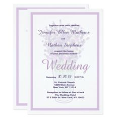 #Modern lilac lavender elegant floral Wedding Card - #weddinginvitations #wedding #invitations #party #card #cards #invitation #country