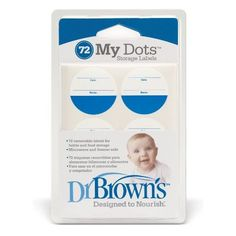Dr. Browns Designed To Nourish My Dot Storage Labels 72-Count Colors May Vary
