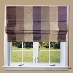 Lewis Chocolate Bold Stripe Lined Roman Blind in Home, Furniture & DIY, Curtains & Blinds, Blinds | eBay
