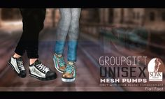 Mesh Pumps Slink Flat Mesh pumps with HUD, uni VIP group gift. These only work with slink flat feet. You will also find several non group dollarbies ..