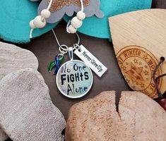 Miscarriage Necklace Pregnancy Loss Jewelry Infant Loss Jewelry Stillborn SIDS Jewelry Gift For Her No One Fights Alone Necklace Awareness Ribbons, Cancer Awareness, Charm Jewelry, Jewelry Gifts, Wire Jewelry, Jewelry Bracelets, Necklace Charm, Fight Alone, Workout