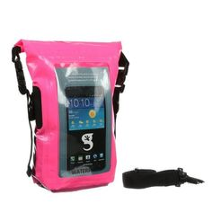 Geckobrands Waterproof Phone Tote - Bright Pink