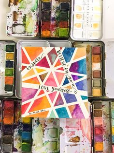 The 'Tape Trick' + A Cool Watercolor Discount For You! – Surely Simple The 'Tape Trick' + A Cool Watercolor Discount For You! Cute Canvas Paintings, Mini Canvas Art, Diy Canvas, Free Canvas, Tape Painting, Diy Painting, Watercolor Painting, Watercolor Cards, Simple Watercolor