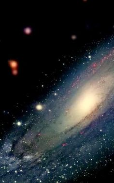 The Andromeda Galaxy,...  Twice the size of our own Milkyway Galaxy. We're hurling towards eachother at a rate of 22,000 miles m.p.h