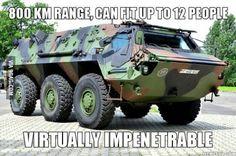 The ultimate zombie apocalypse vehicle.