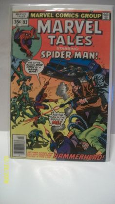 Marvel Tales Starring Spider-Man Doc Ock and Hammerhead Good-VG Condition Vintage Marvel Comic Book Reprint SM 1978 Marvel Comic Books, Marvel Comics, Amazing Spiderman, Bronze Age, The Man, Vintage, Etsy, Products, Vintage Comics