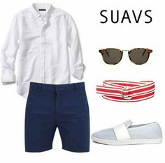 Great way to style your Breathable All White SUAVS Shoes for a dapper menswear look.