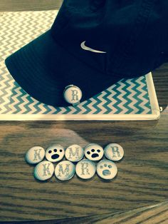 Do it yourself, ball markers. I went to hobby lobby and got golf ball