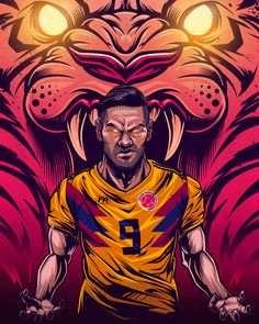 Radamel Falcao Illustration Illustration FIFA Fussball-Weltmeisterschaft FutbolRed on Behanc . World Cup Trophy, Rugby World Cup, Soccer World, Fifa World Cup 2018, World Cup 2014, Cricket Logo Design, Colombia Soccer, Brazil World Cup, Russia 2018