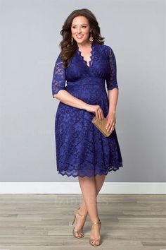 Beautiful plus size Liz Lace Dress from IGIGI Fashion