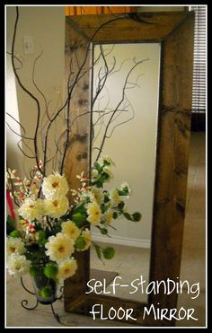 brown diy wall decor projects | DIY Mirror Projects: Reflect a Larger Space! | Decorating Your Small ...