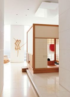 Peace and quiet, that is the feeling I get looking at this interior.  Contemporary Entrance Hall by ODA-Architecture and ODA-Architecture in New York, New York