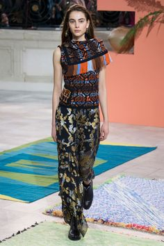 Peter Pilotto Fall 2017 Ready-to-Wear Fashion Show - Romy Schonberger
