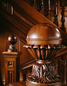 "chasingrainbowsforever: "" Mahogany Staircase Details "" This is ART! Victorian Interiors, Victorian Homes, Grand Staircase, Staircase Design, Balustrades, Wooden Stairs, Wood Creations, Wood Sculpture, Sculptures"