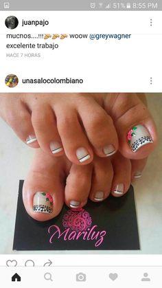 Short Nail Manicure, Pedicure Nail Art, Toe Nail Art, Toe Nails, Cute Toenail Designs, Pedicure Designs, Toe Nail Designs, Sexy Nail Art, Sexy Nails
