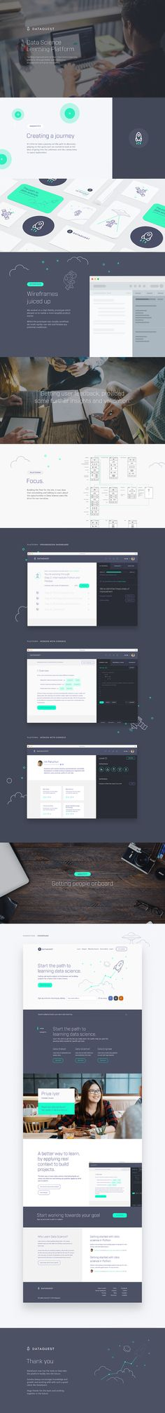 DataQuest - Data Science Learning Platform Branding UI/UX Web Design