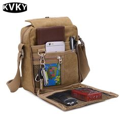 Retro Canvas Sling Bag Vintage Crossbody Bag Solid Shoulder Bag For Women Men is hot-sale, many other cheap crossbody bags on sale for men are provided on NewChic. Small Messenger Bag, Canvas Messenger Bag, Outdoor Reisen, Sport, Canvas Travel Bag, Mens Travel Bag, Travel Bags, Travel Luggage, Vintage Canvas