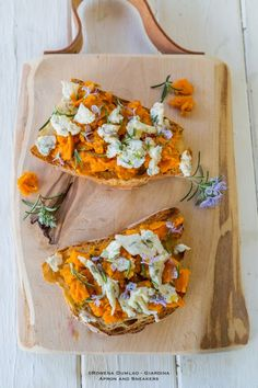 Roasted Sweet Potato with Chickpeas, Cilantro, and Feta. | Healthy ...