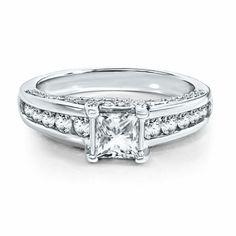 Radiant Star 1 1/2CT TW Diamond Engagement Ring in 14K Gold by Helzberg Diamonds