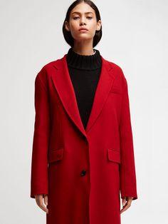 Wool Notch Collar Coatnull