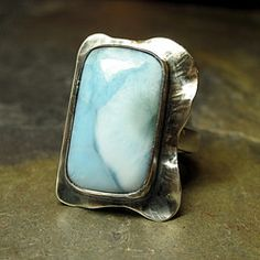 Lavender Cottage Jewelry — Sterling and Larimar Ring